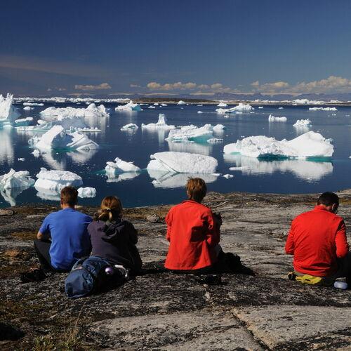 Wandern zur Wiege der Eisberge