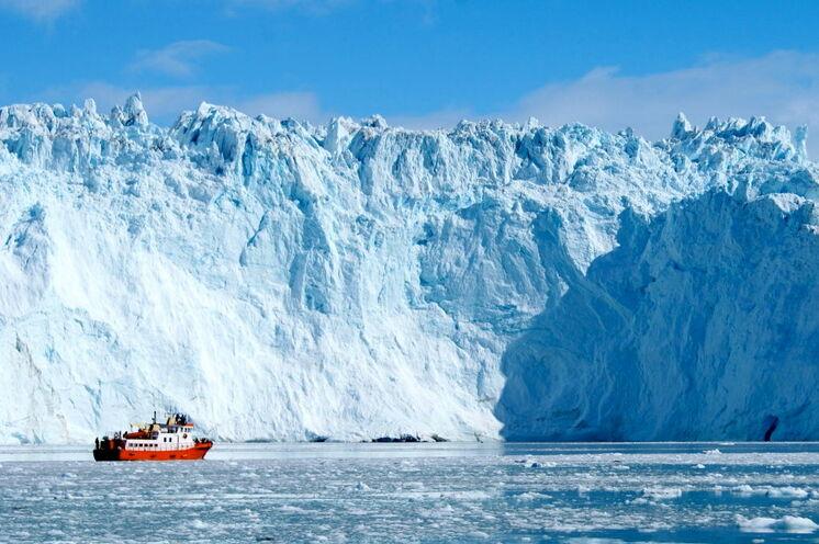 Vor der Abbruchkante des Eqip Sermia Gletscher