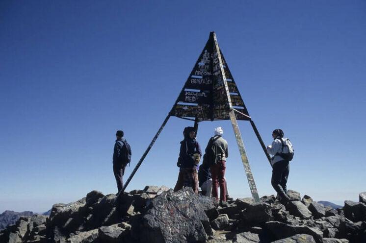Auf dem Gipfel - höher geht's in Marokko nicht!