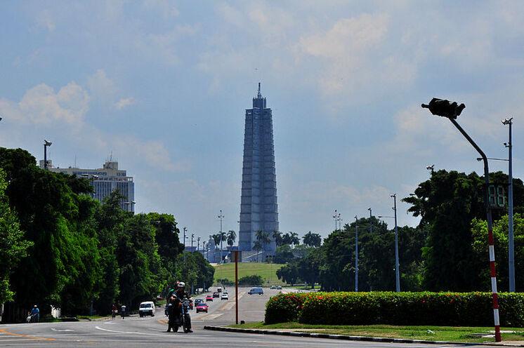 Die höchste Aussicht vom Denkmal auf der Plaza de la Revolución.