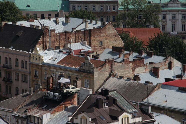 "Selbst auf den Dächern Lembergs gibt es ""kultige"" Cafés"