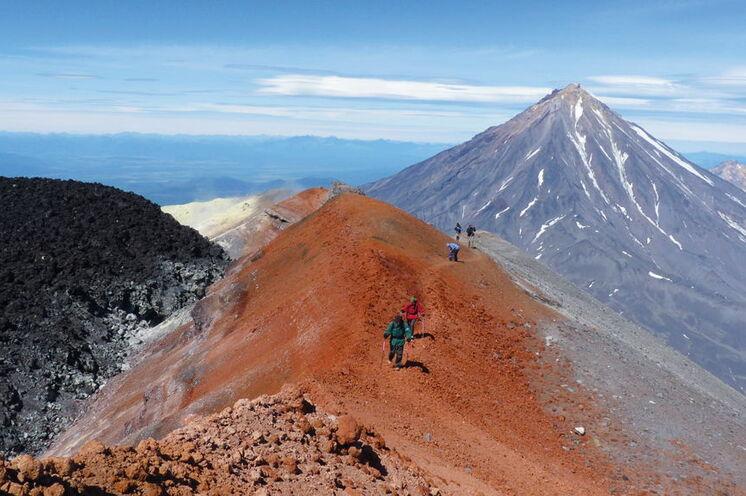 Auf dem Weg zum Gipfel des Avacha