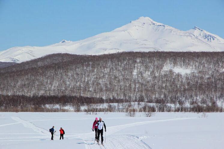 Unsere Trainingsrunde umringt von einigen Vulkanen.