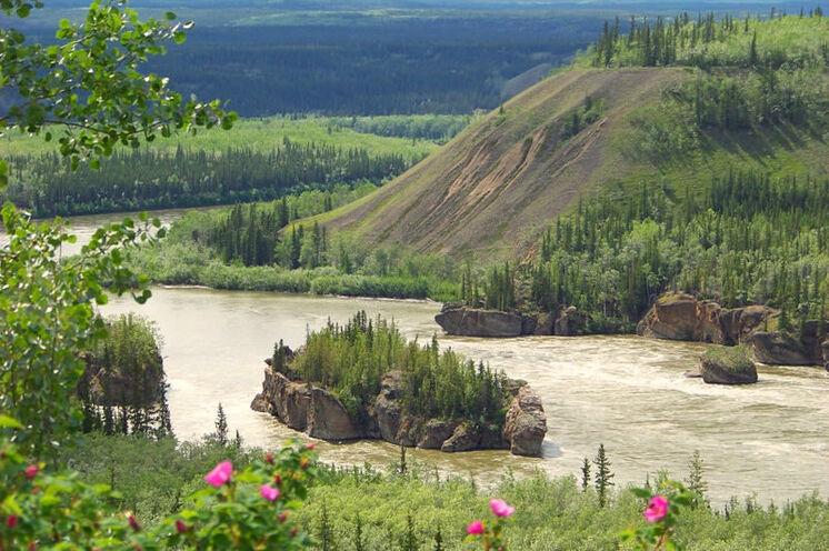 Beeindruckende Felsformation: die Five Finger Rapids