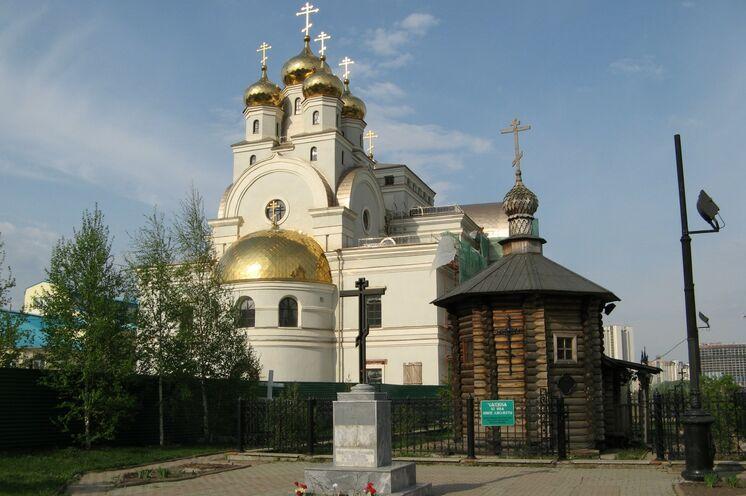 Ekaterinburg: Blutskathedrale, erbaut am Hinrichtungsort von Zar Nikolaus und seiner Familie