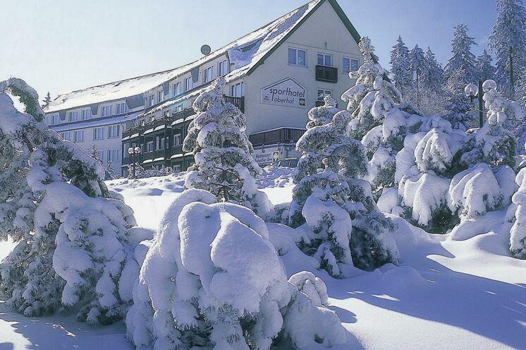 Unsere Unterkunft in Oberhof direkt an der Loipe