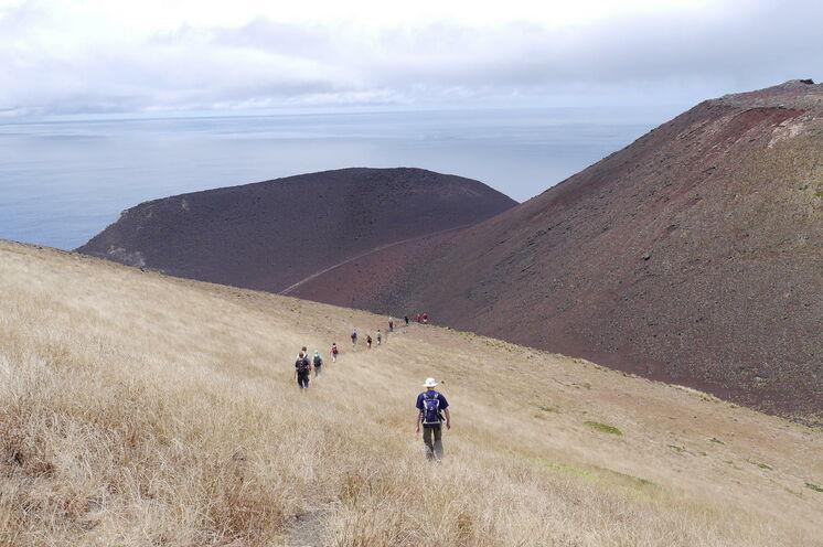 An der Westspitze Faials entstand in den 1950er Jahren eine bizarre Vulkanlandschaft - Capelinhos
