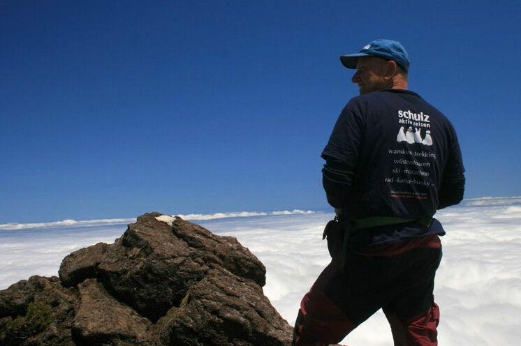 Gipfelglück - die Besteigung des Pico ist das Wanderhighlight dieser Reise