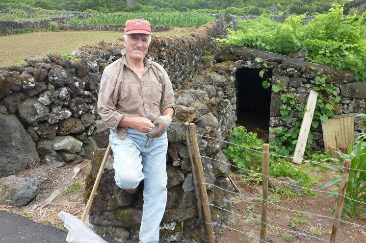 Begegnung mit einem Weinbauern auf Pico