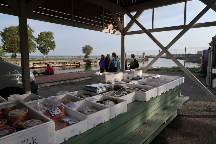 Frisch vom Ostsee-Kutter auf den Markt
