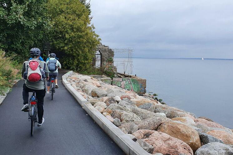 Die Radtour führt auch sehr schön an der Ostseeküste entlang