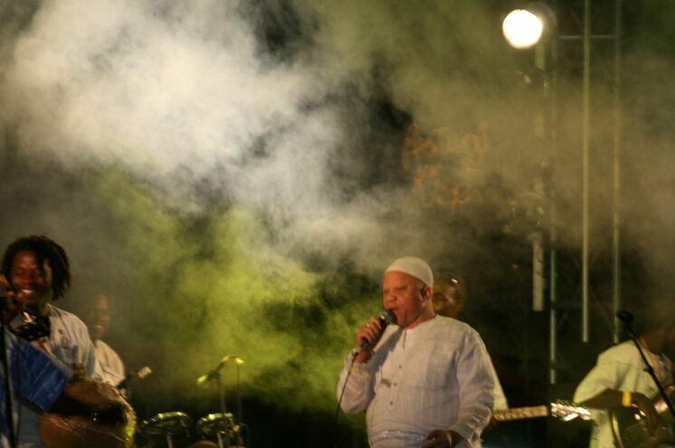 Salif Keita auf dem Festival sur le Niger.