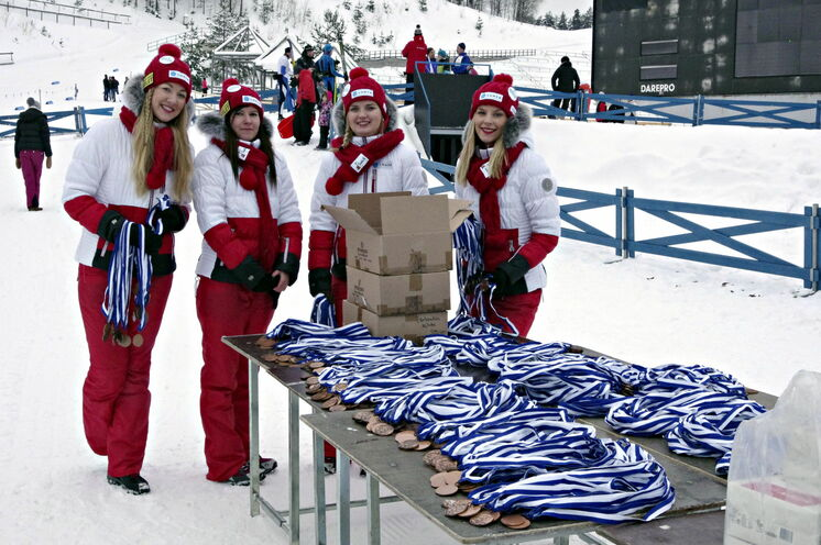 Willkommen im Stadion von Lahti, Start und Ziel des Finlandia Hiihto, welcher auf Teilstücken der Loipen der letzten Nordischen Ski WM von 2017 stattfindet