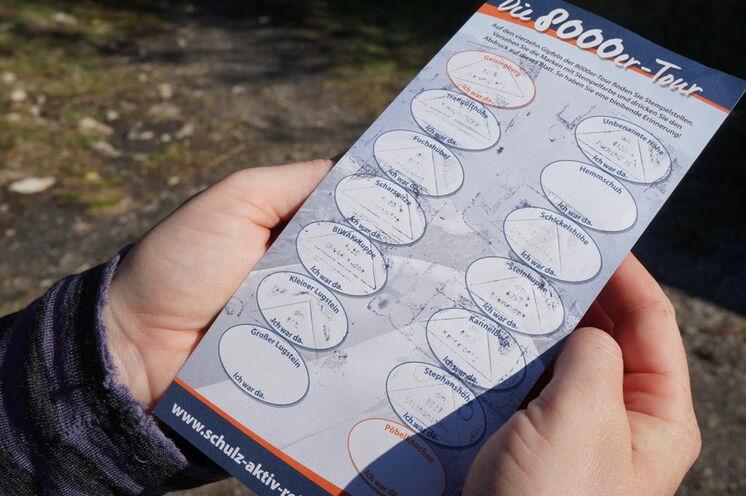 ... und in Ihren Reiseunterlagen die Stempelkarten von schulz aktiv reisen