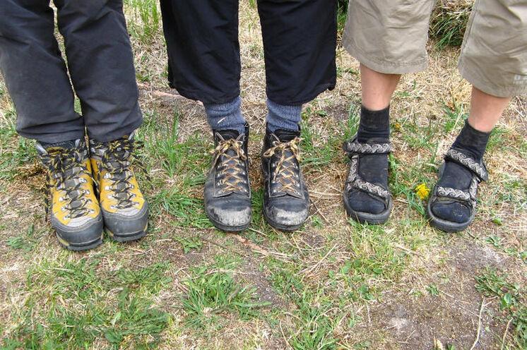 Die Wahl der Schuhe bleibt jedem selbst überlassen - gut eingelaufen sollten sie aber unbedingt sein!