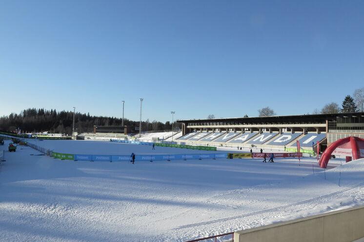 Das Stadion eignet sich  bestens zum kleinen Trainingslauf und Wachstest.