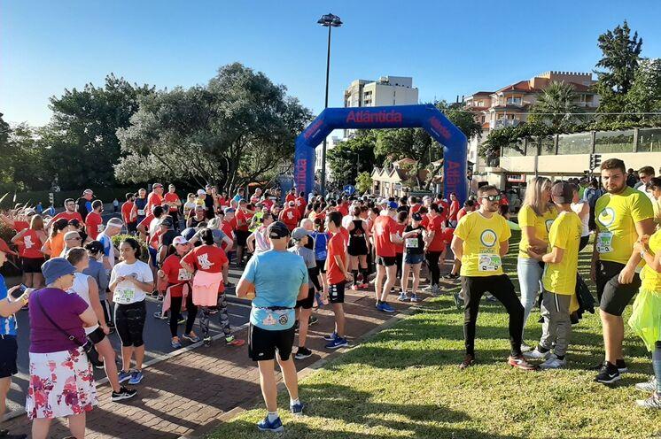 Start zum Halbmarathon in Januar 2020 bei bestem Wetter.