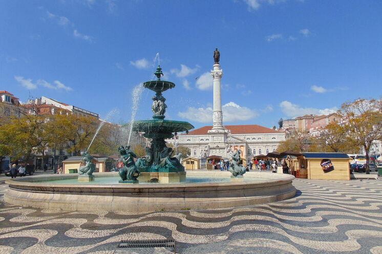 Am Rossio - einer der schönsten Plätze Lissabons