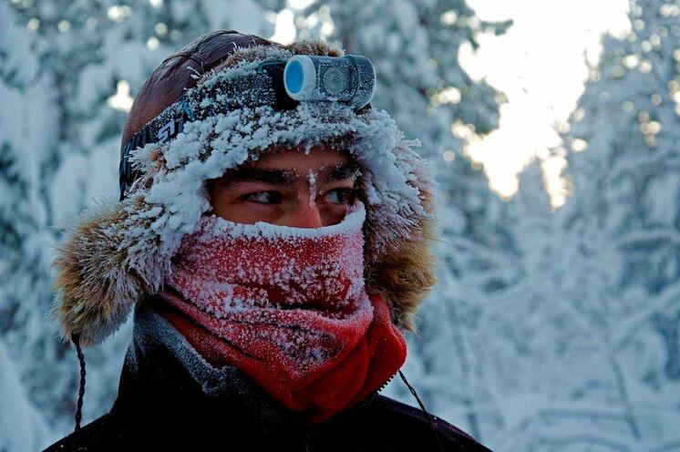 Es kann kalt werden! Aber die gestellte Ausrüstung hält warm (Fotowettbewerbsbild von Manuel Gros)