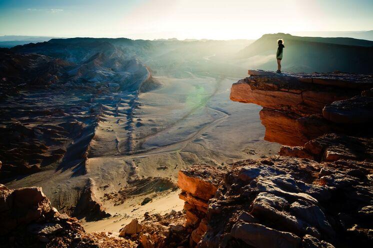 Atemberaubender Blick in das Todestal in der Atacama Wüste