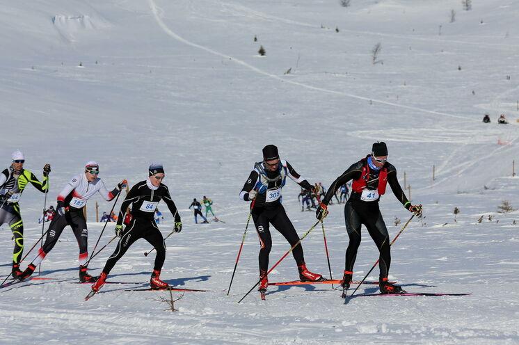 Lapponia skiing week: Freestile (FT) ist angesagt, für  klassisch Laufende gibt es stets auch eine Spur