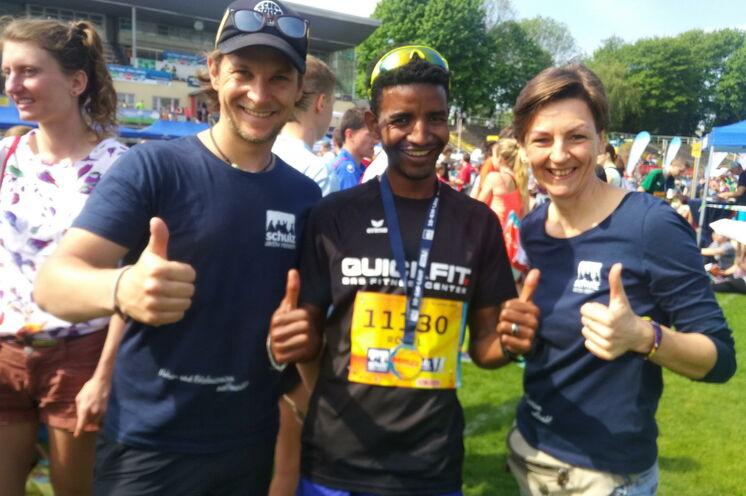 Tewelde Robel gewann den schulz aktiv-10-km-Lauf 2018 in einer respektablen Zeit von 00:31:55 h!