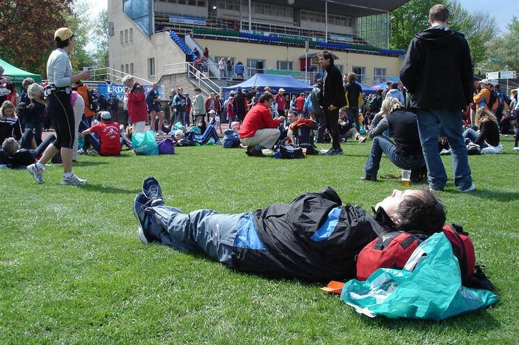 Beste Relaxstimmung im Stadion und sehr gute Versorgung durch Getränke, Essen, Massage...