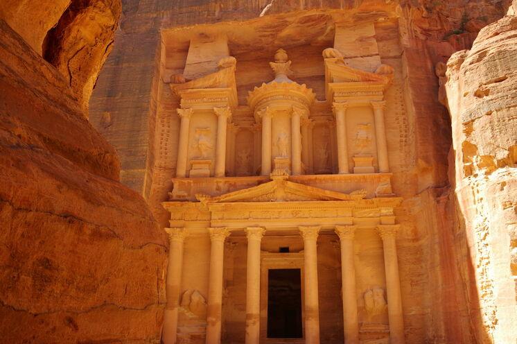 Ein Muss für Jordanienreisende: Das Schatzhaus in der Nabatäerstadt Petra