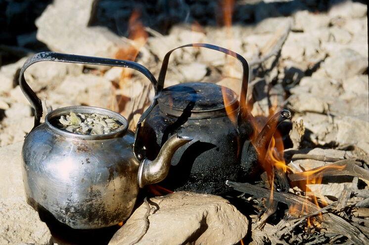 Gehört zu jeder Rast dazu, der wärmende wohlige Tee