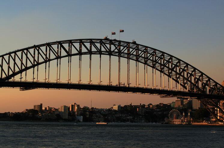Die berühmte Sydney Harbour Bridge