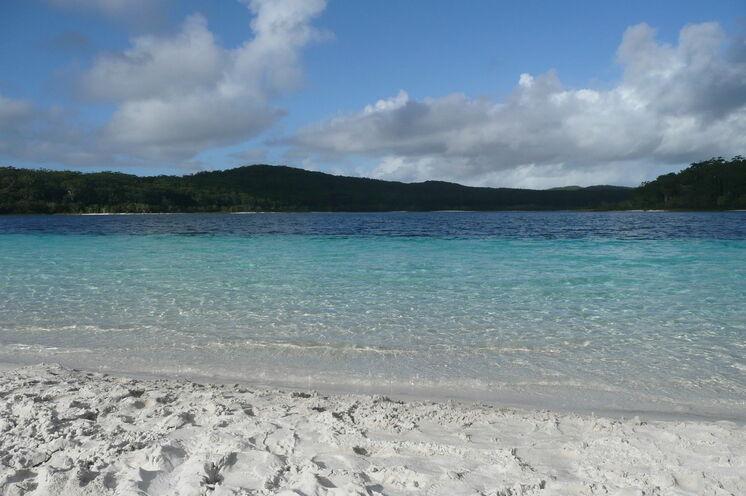 ...die Sie an malerische Orte führt wie den Lake McKenzie, dem wohl schönsten Süßwassersee der Insel