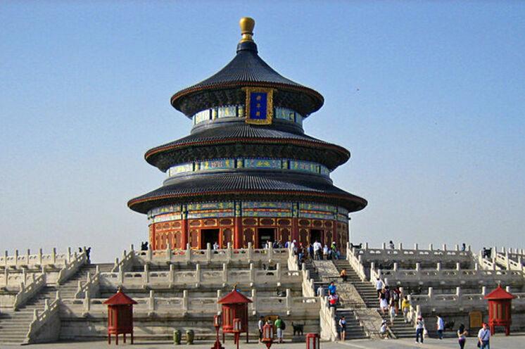 Sie nehmen Abschied von China in einem der schönsten Tempelanlagen Pekings, im Himmelstempel