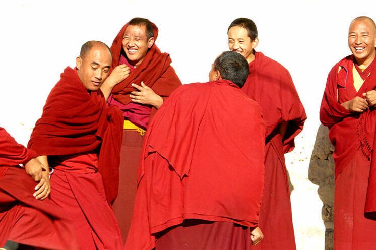 ... und begegnen tibetischen Mönchen