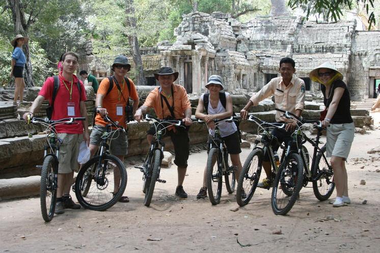 Angkor Wat in Kambodscha erkunden Sie per Rad...