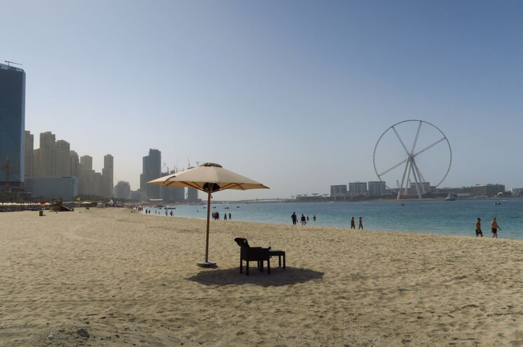 Einsamer Strand an der Marina Beach, in der Nähe unseres Hotels
