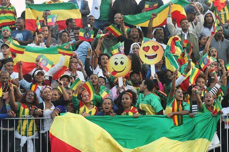 Äthiopische Fangemeinde sorgt für eine besondere Stimmung