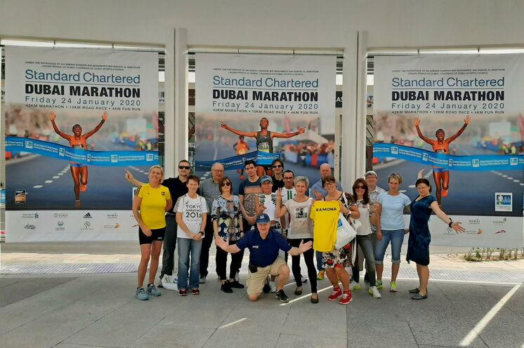 Unsere Läufer zum Dubai-Marathon 2020