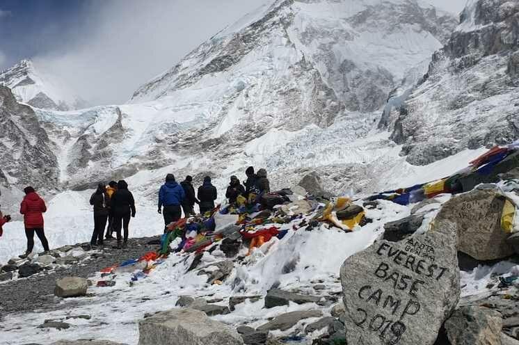Ziel erreicht: Das Everest Base Camp im Frühjahr 2019