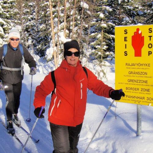 Skiwandern entlang der russischen Grenze