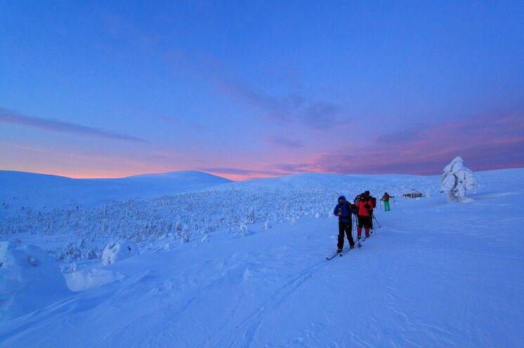 Das Licht der Polarnächte ist einzigartig: so sieht es spätnachmittags in Januar aus