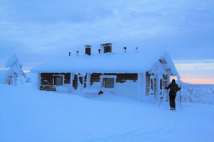 """Das sog. """"blaue Stunde"""" in den lappländischen Bergen - den Tunturis"""