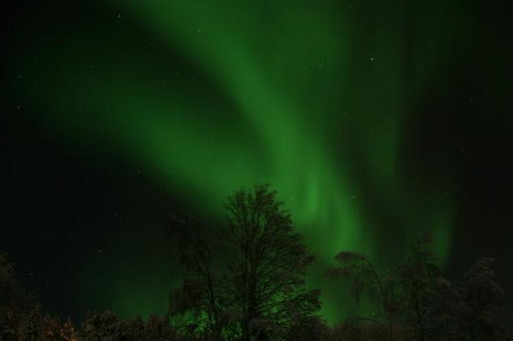 Es gehört schon etwas Glück dazu um die Polarlichter zu sehen
