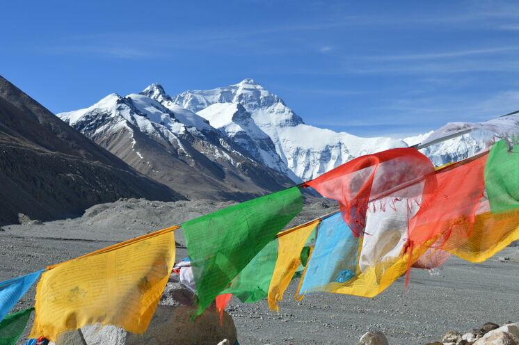 Der Blick auf den höchsten aller Berge, den Mount Everest