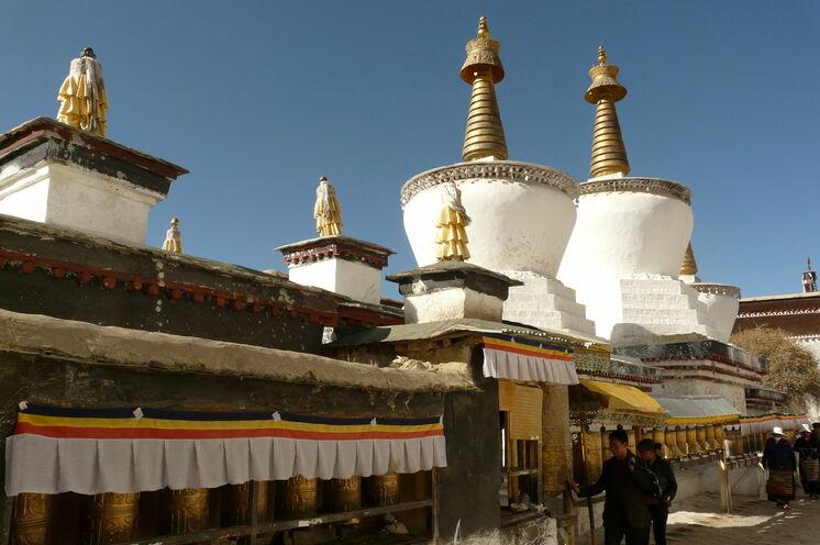 Ein Blick ins Tashilhunpo-Kloster in Shigatse