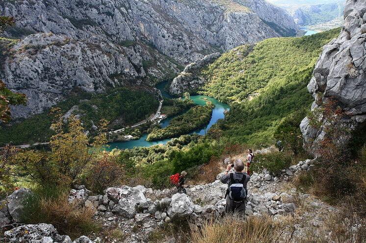 Wanderung im dalmatinischen Karstgebirge