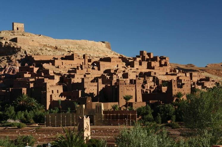 Das Weltkulturerbe Aït Ben Haddou. Auf Ihrem Rückweg nach Marrakesch übernachten Sei hier.