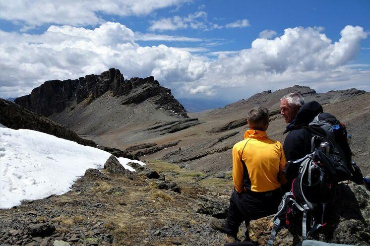 Aufstieg zum Pico Tunai, mit 5035 m der höchste Berg Zentralboliviens