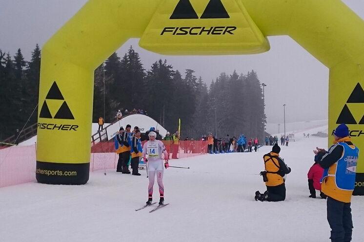 Siegerin beim 15 km FT als auch 30 km CT...(!)