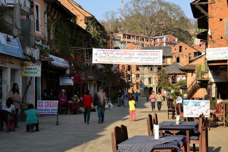 Die Fußgängerzone in Bandipur