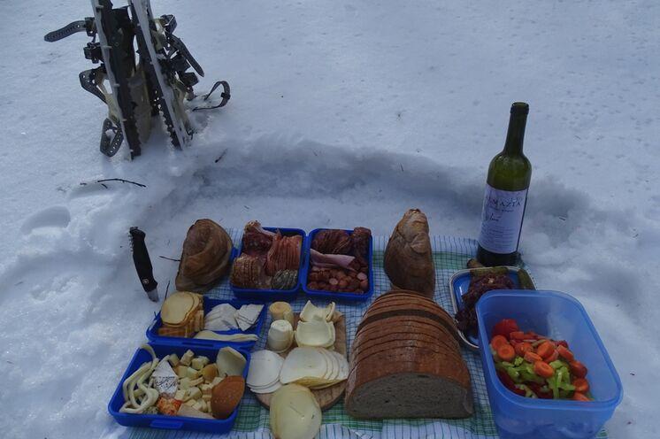 Auch im Winter kann man wunderbar picknicken